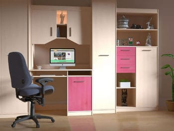 Built-in Desk with Cabinets