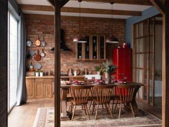 Red Bricks in the Kitchen