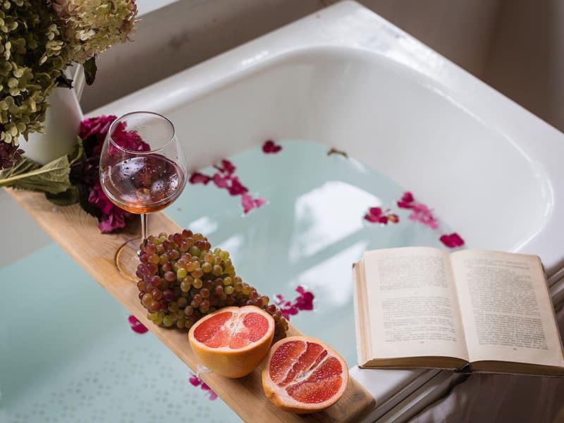 Bath Tub Flower Petals
