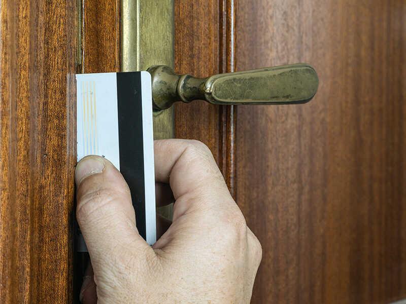 Breaking Brown Door Lock
