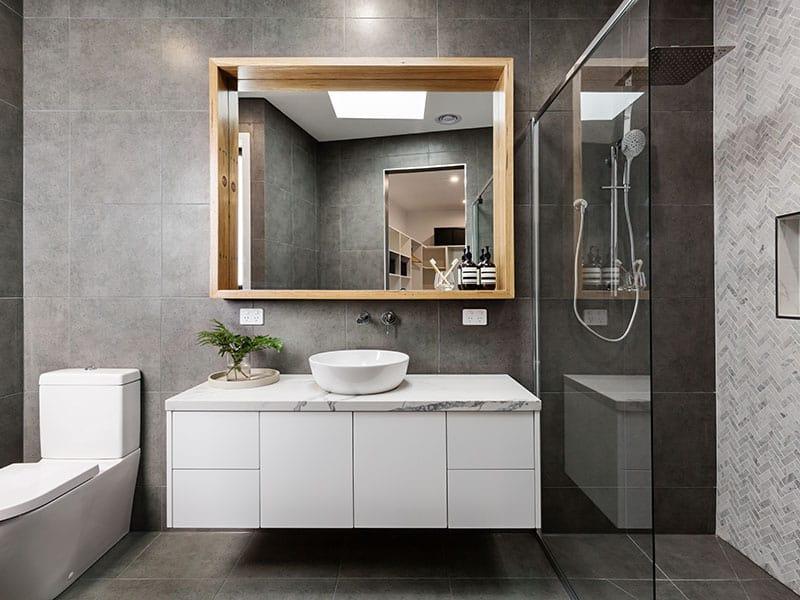 Designer Bathroom Herringbone
