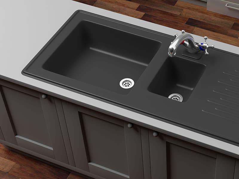 Kitchen Cabinets Black Sink