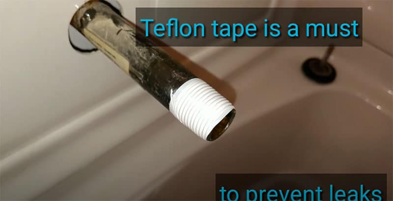 Pipe With Teflon Tape
