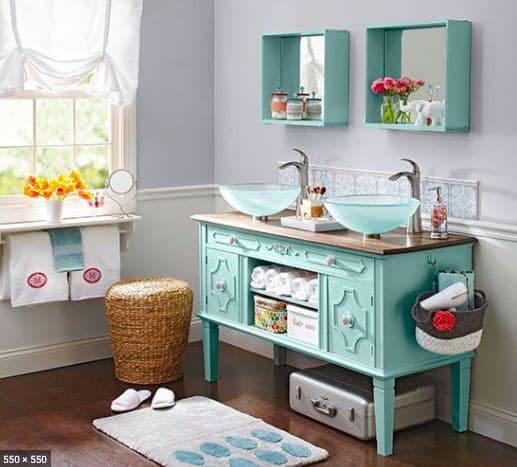 Repurposed Buffet Table