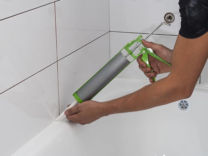 Silicone Sealant Joint Bathtubs