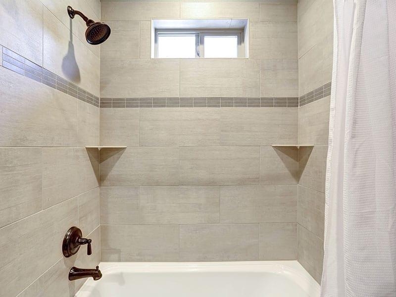 White Fresh Bathroom Interior