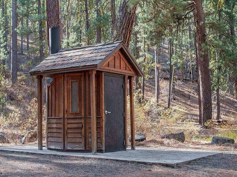 Rustic Wooden Toilet